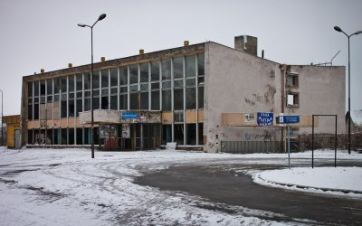 Shopping gallery in place of railroad station in Zgorzelec
