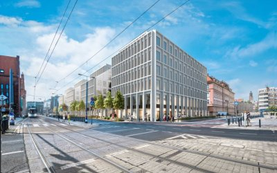 Technobud is working at construction of office building in Wrocław