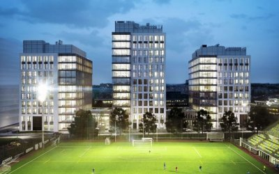 Office complex is being built in Gdynia