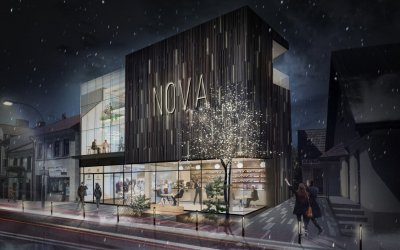 Nova shopping mall is erected in Limanowa